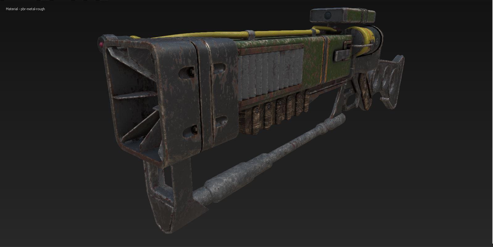Fallout AER 9 laser rifle