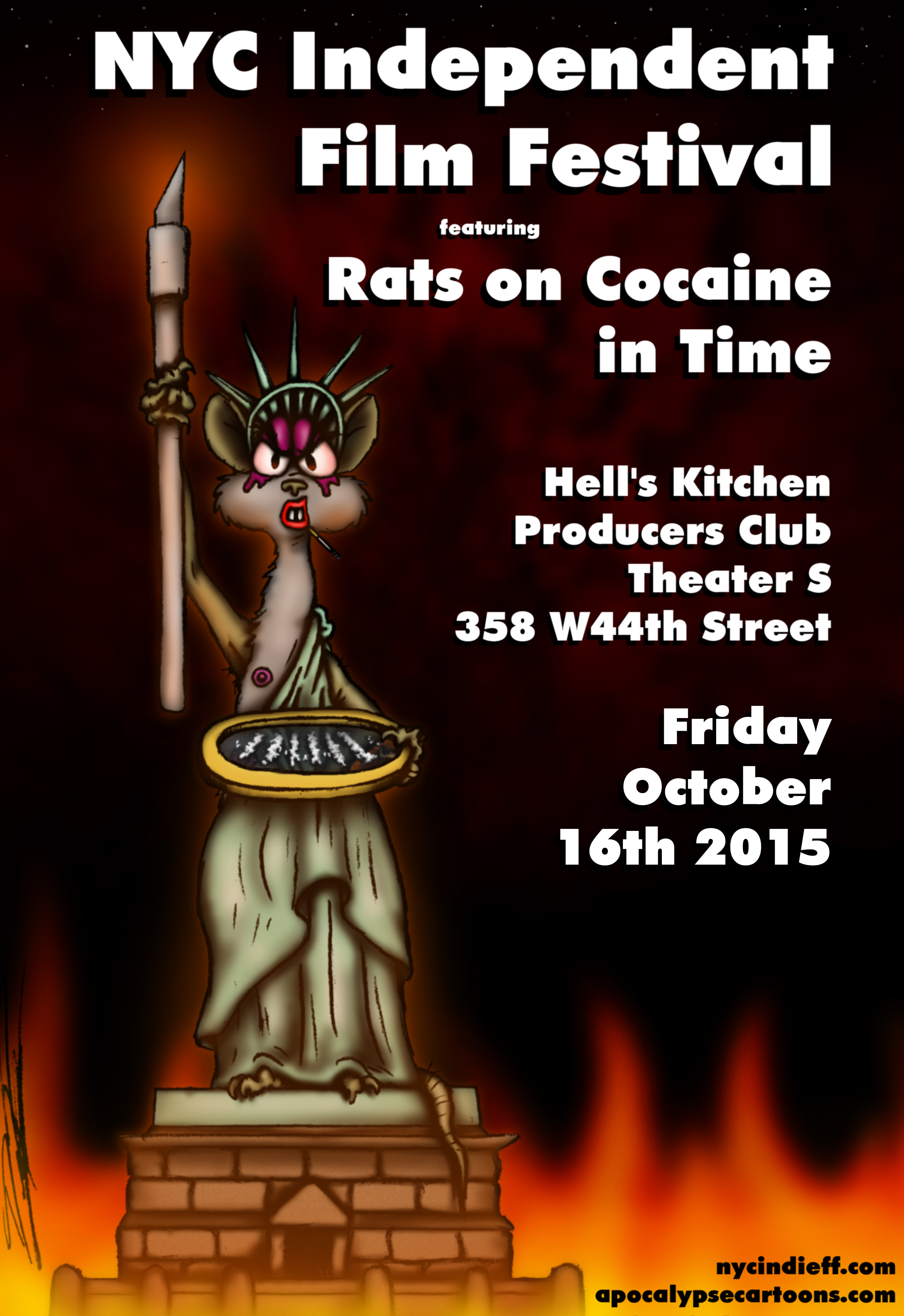 NYCIFF Rats on Cocaine Poster
