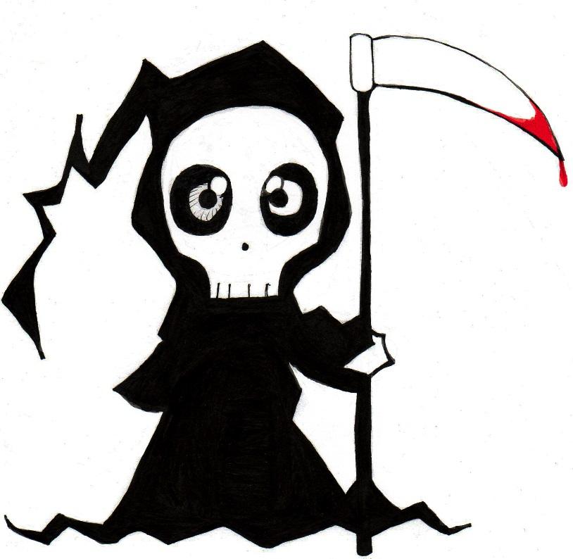 Inktober Day 2 - Cute Reaper