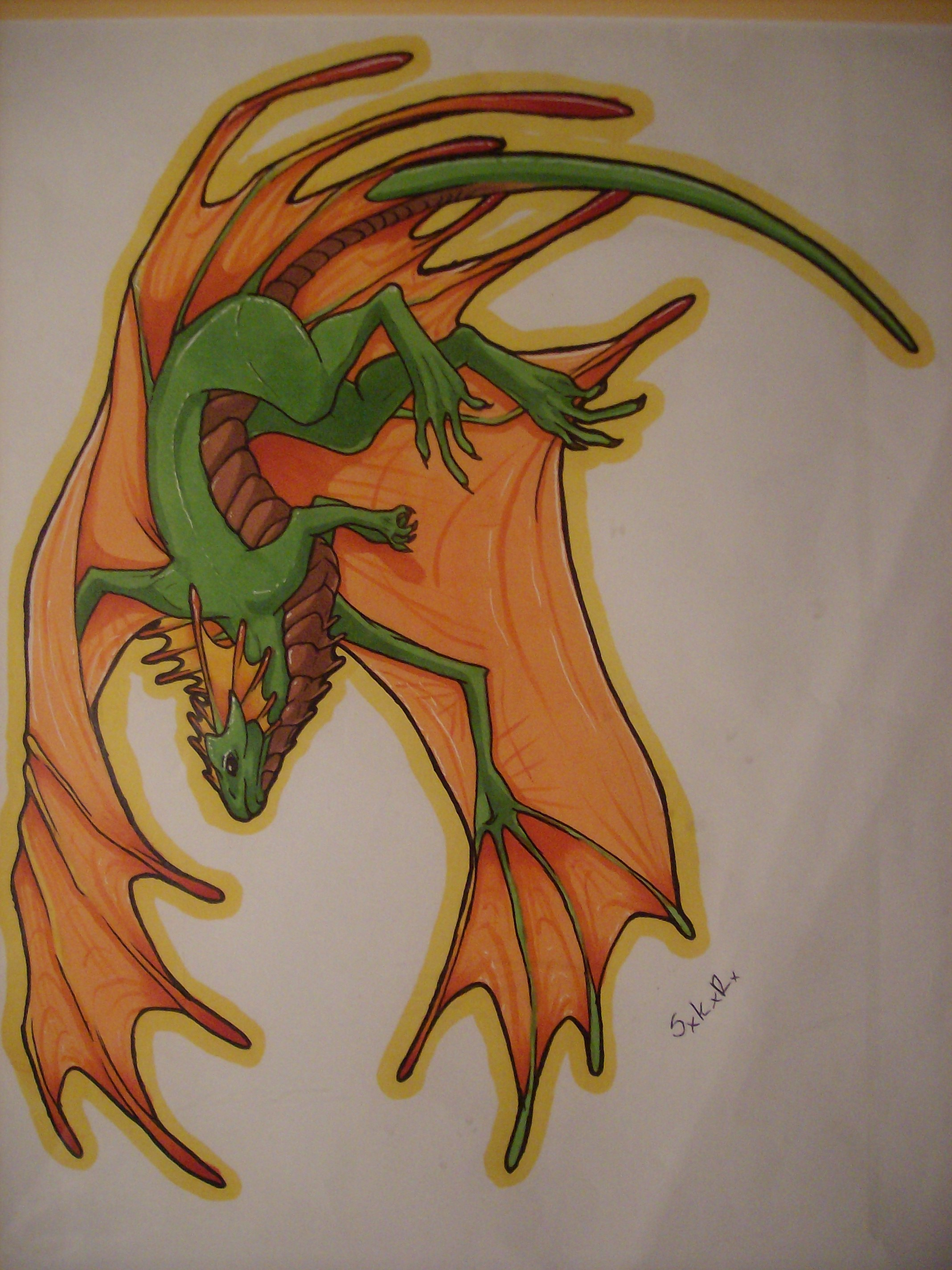 NeonDragons Fae Dragon colored