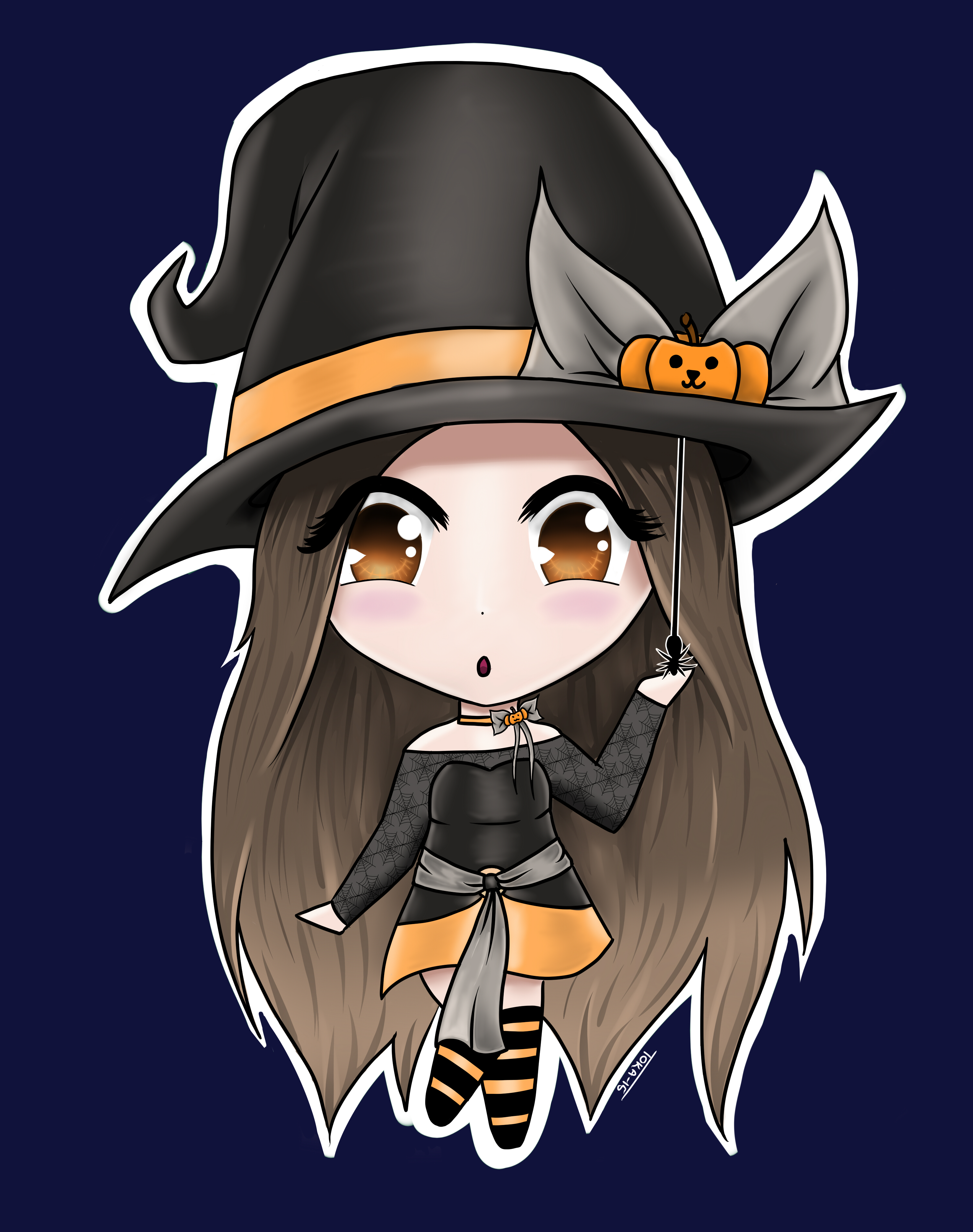 Chibi Pumpkin Witch