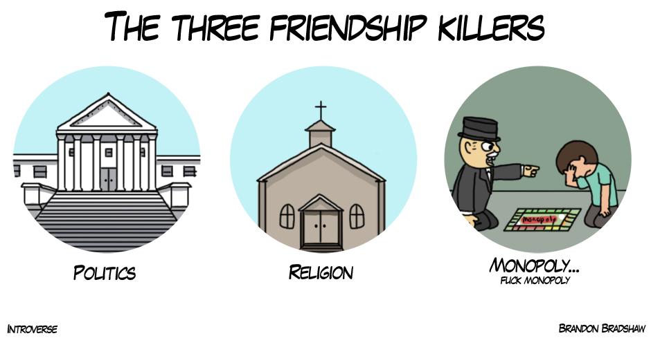 The Three Friendship killers