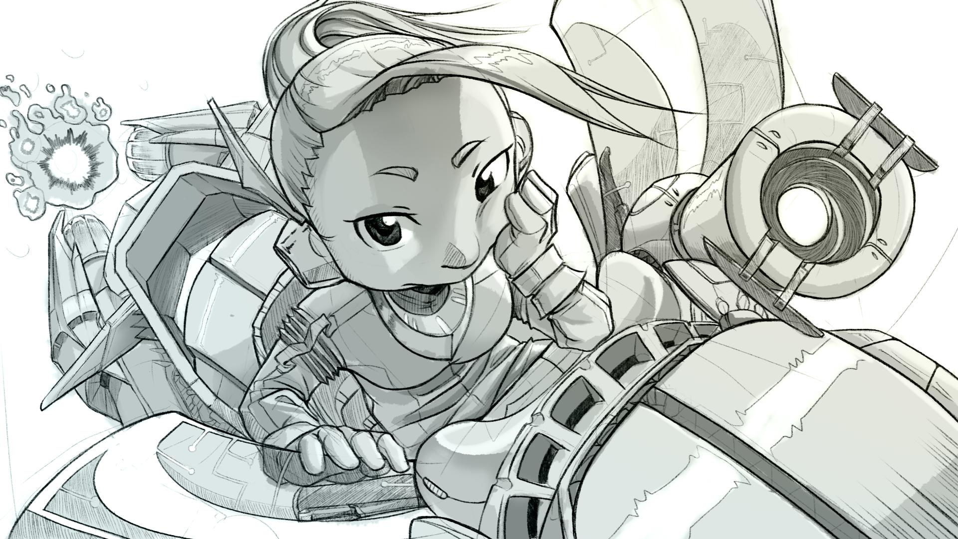 Sci-fi Motorgirl