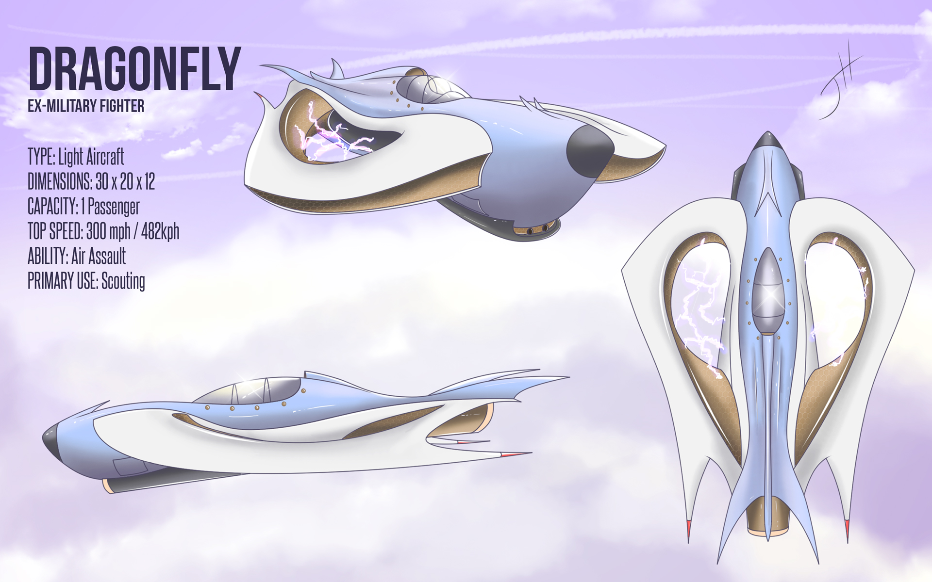 Dragonfly: Ex-Military Fighter