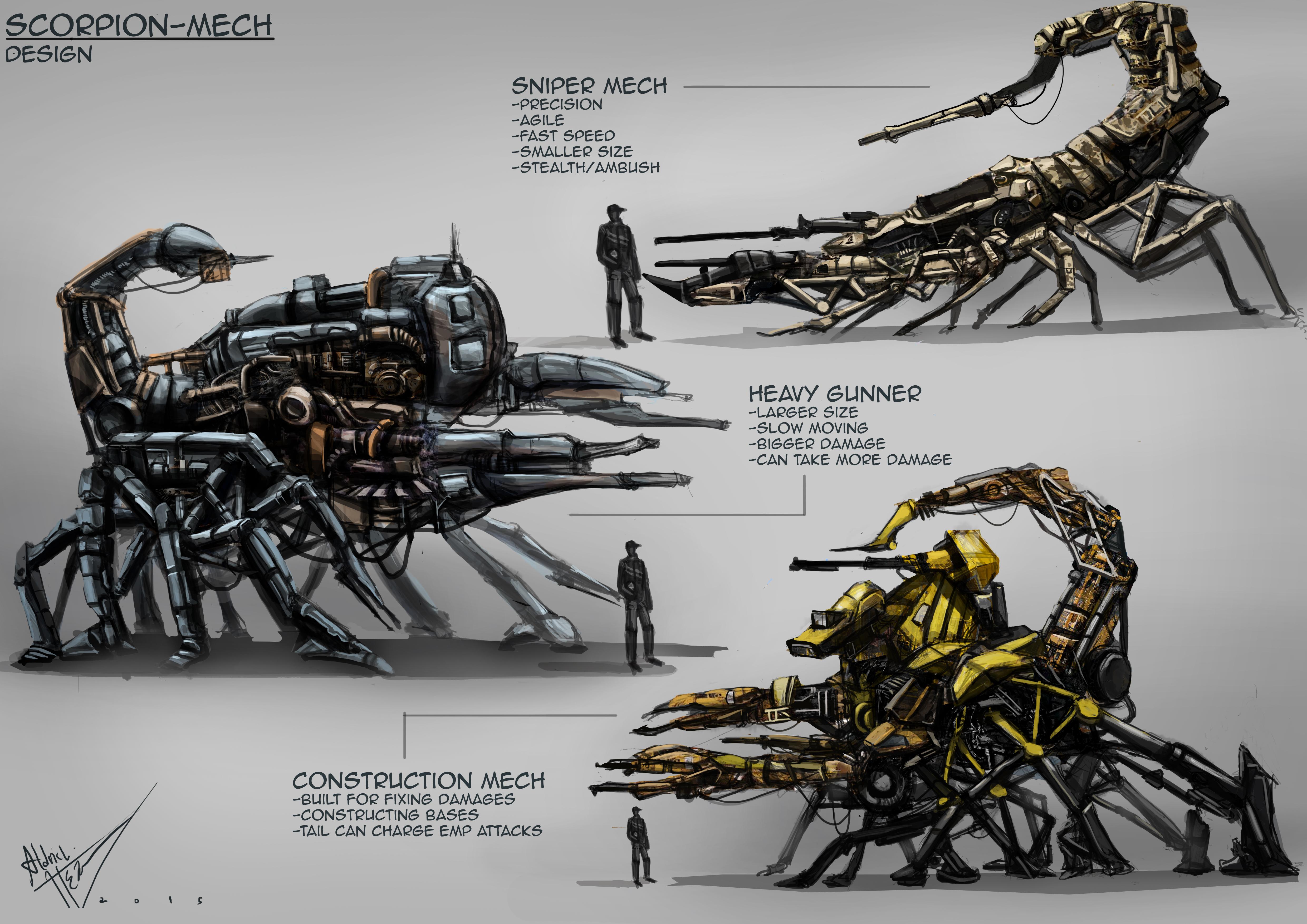 scorpion mech designs