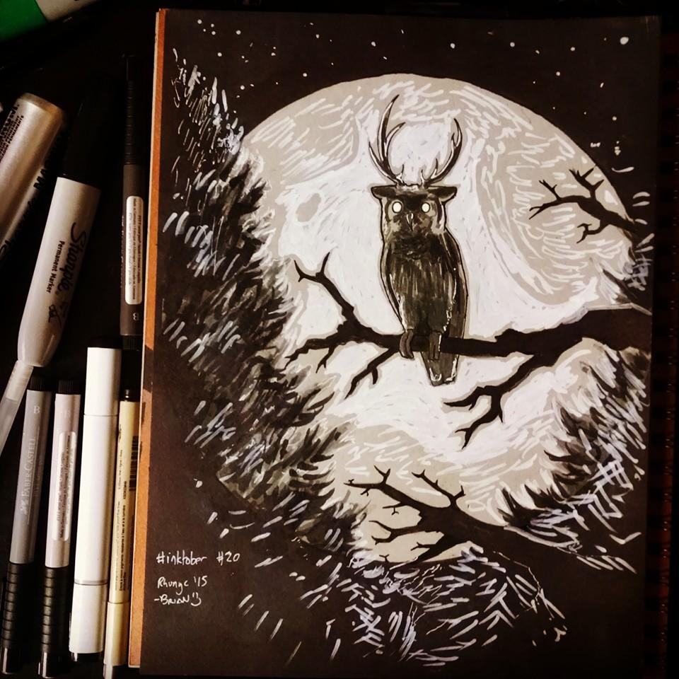 Inktober: Wise Owl