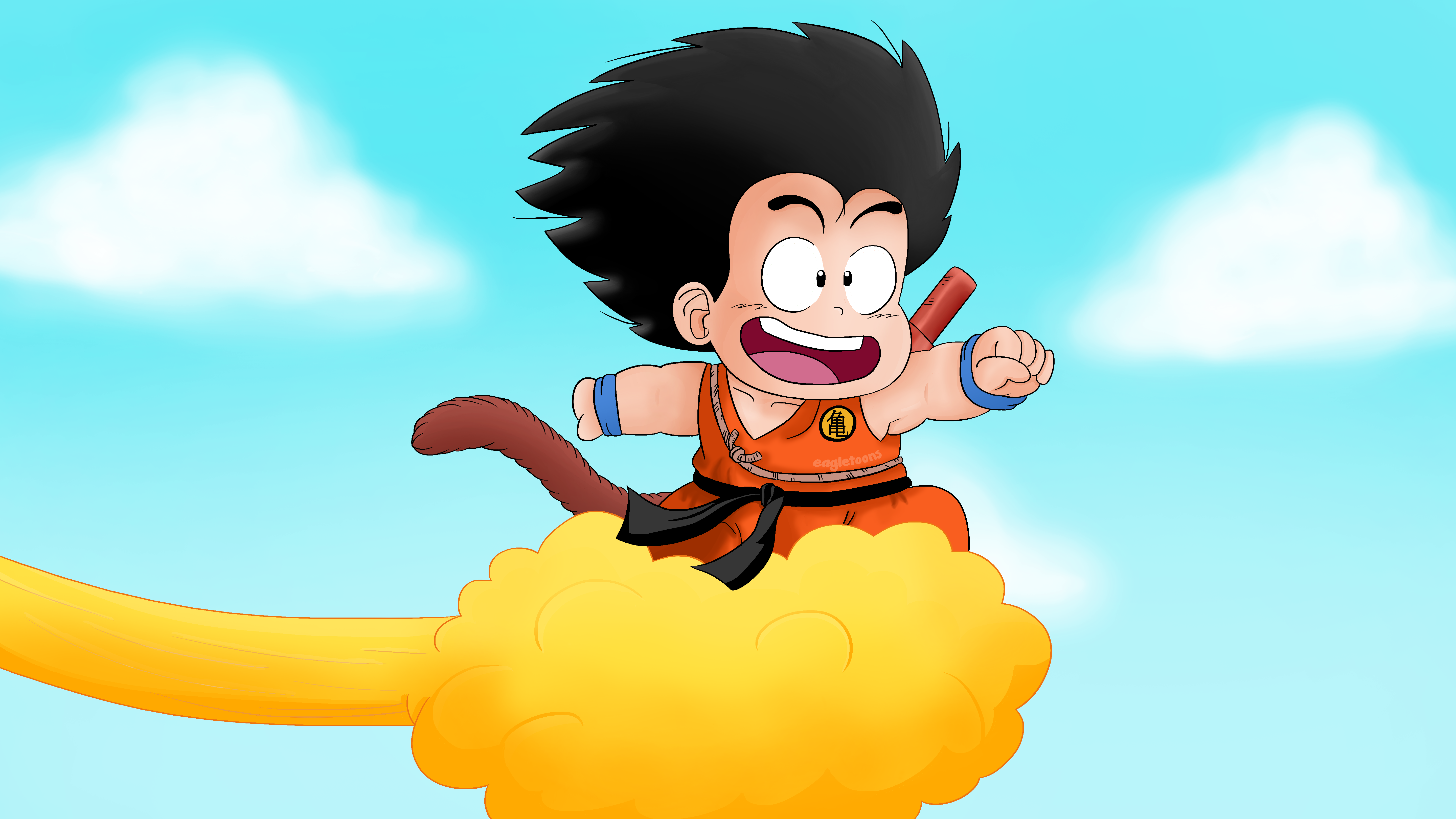Goku and His Flying Nimbus