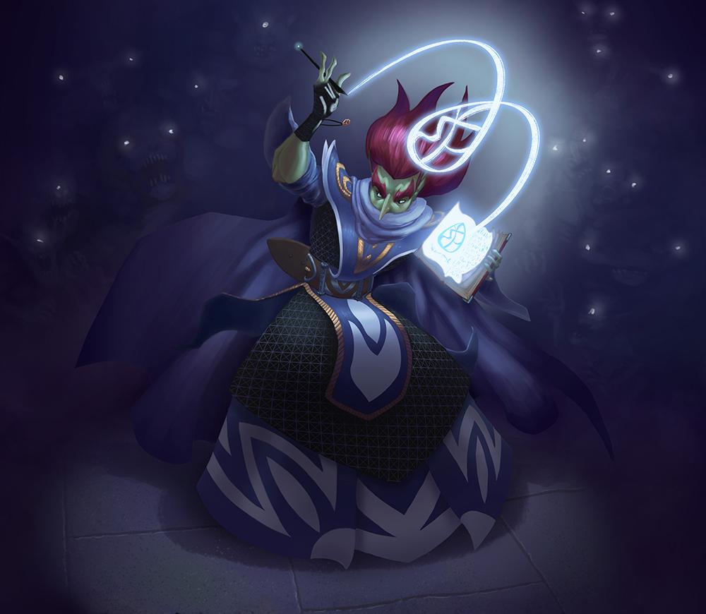 Spellcasting in the dark