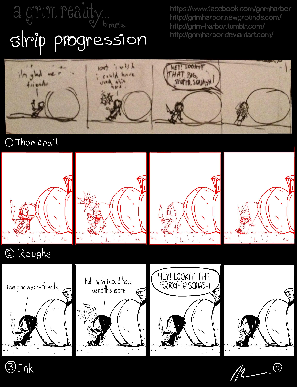 """a grim reality..."" 10-25 strip progression"