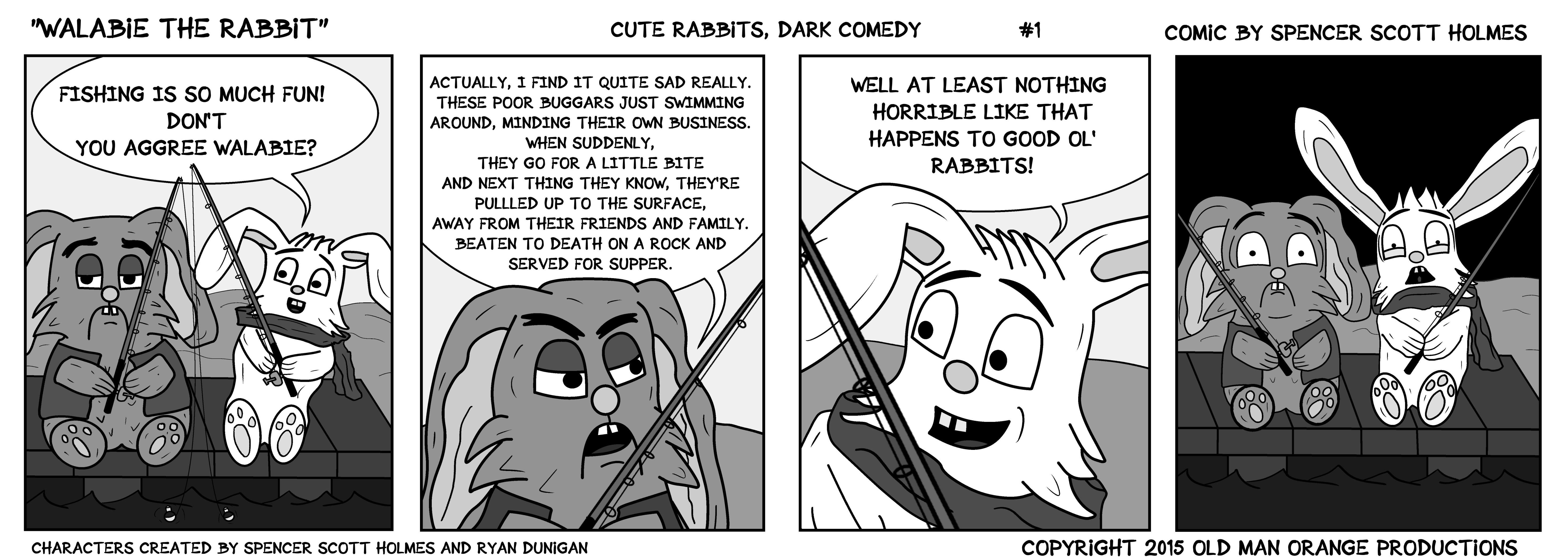 Walabie The Rabbit - Cartoon Strip 1-1