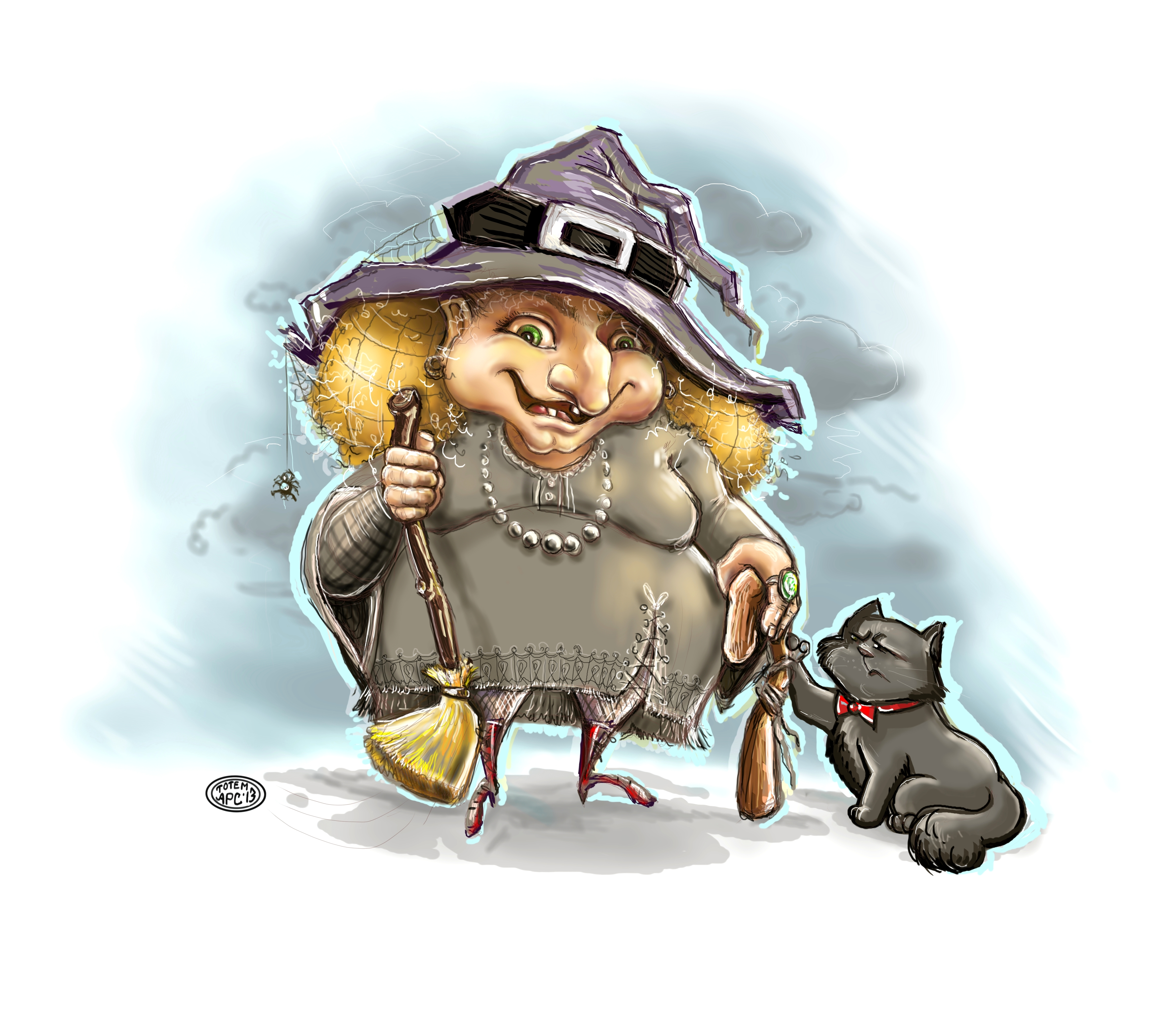 The Witch and her cat
