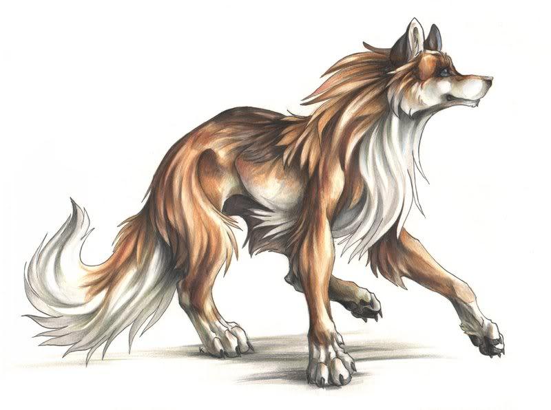 Random wolf that i drew on sony vegas