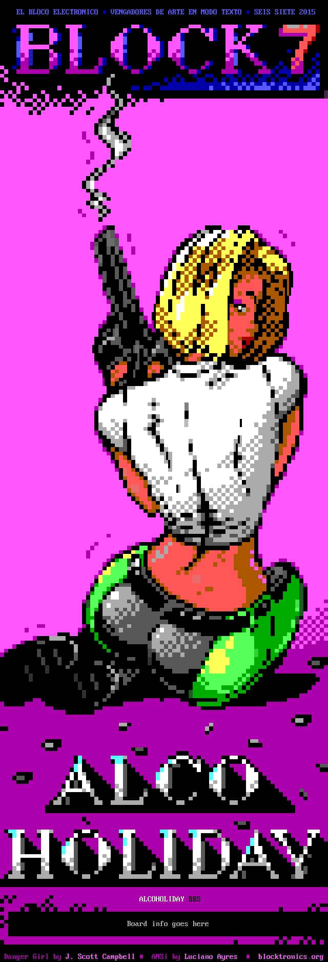 Danger Girl Comic Rip for Alcoholiday BBS