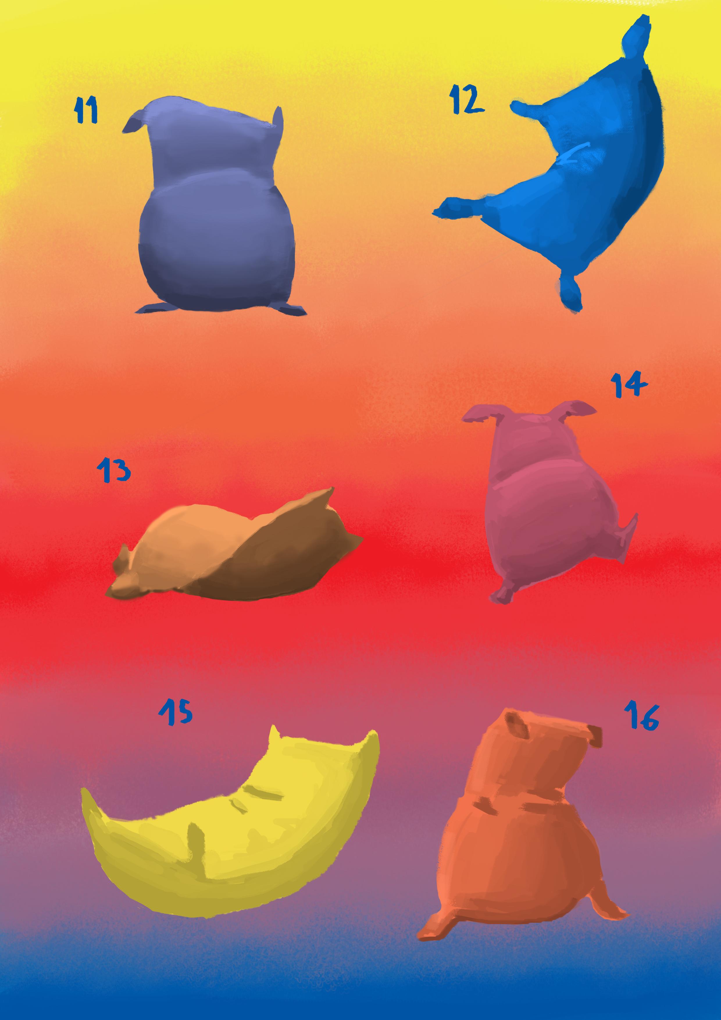 flour sacks / pillows 3