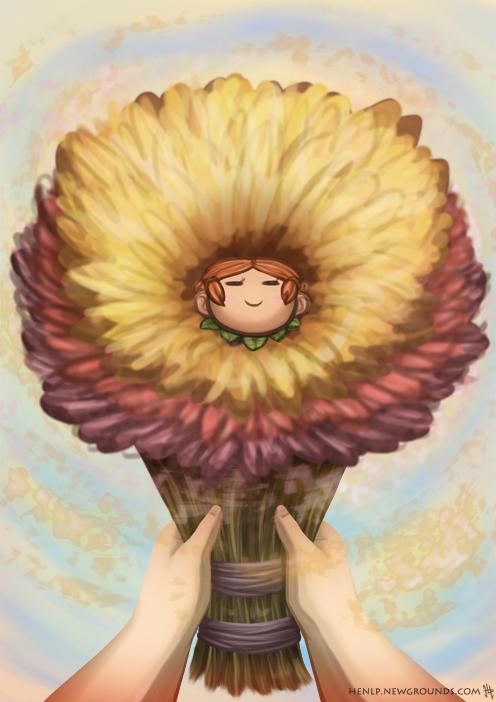 Illustration Friday 4 - Bouquet
