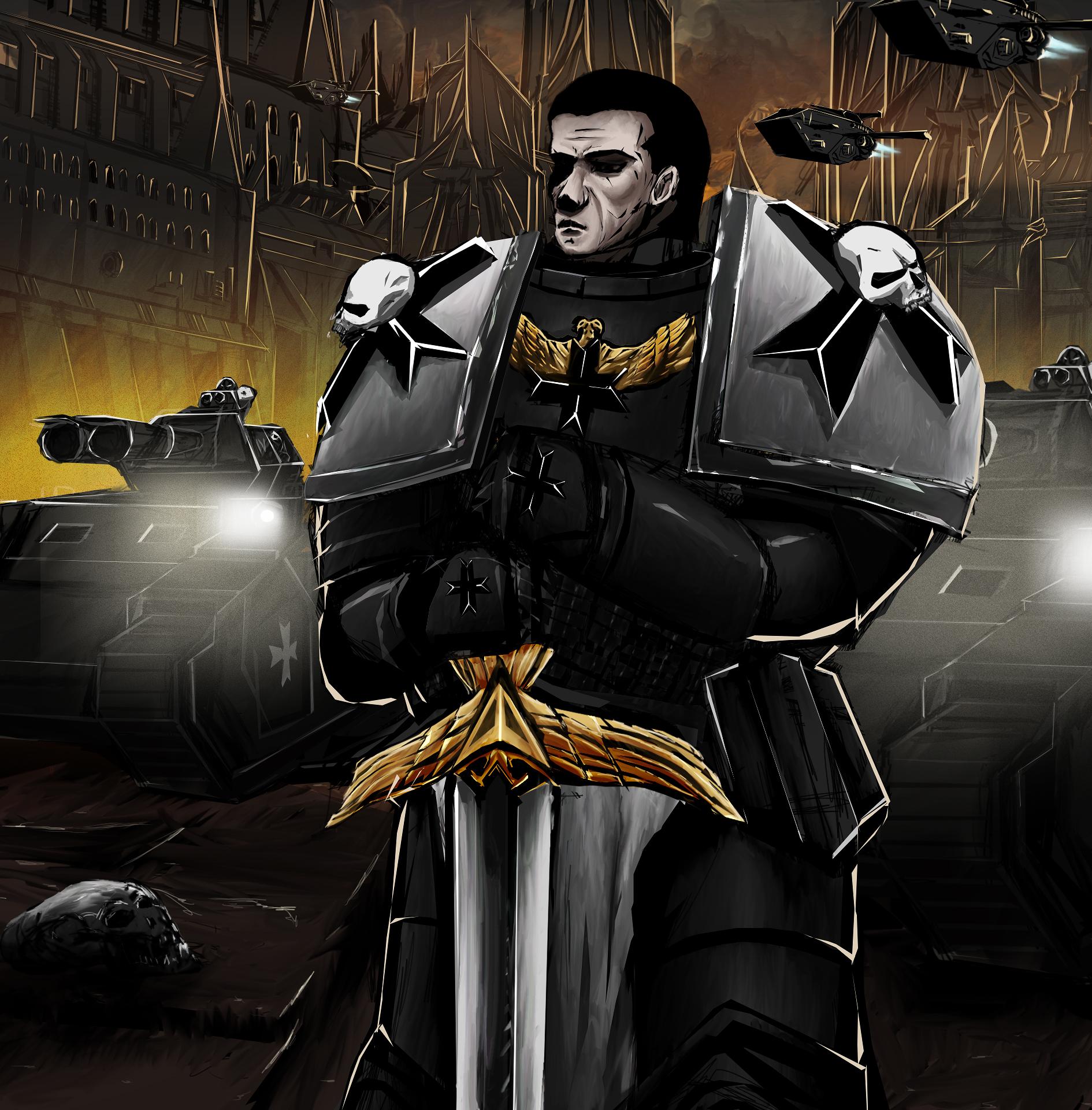 Black Templar (Self-portrait!)