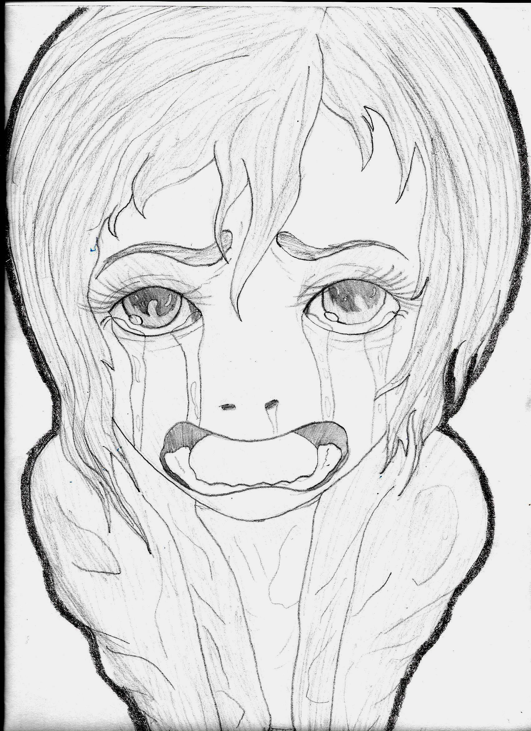 a girl crying