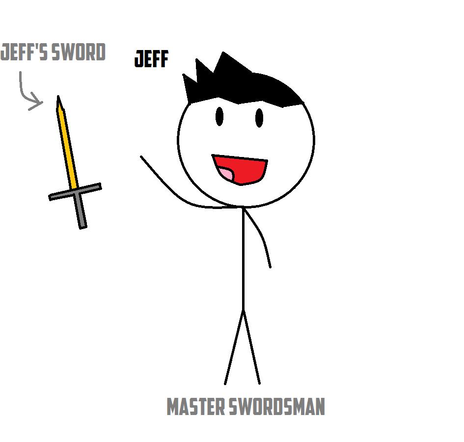 Jeff, master swordsman