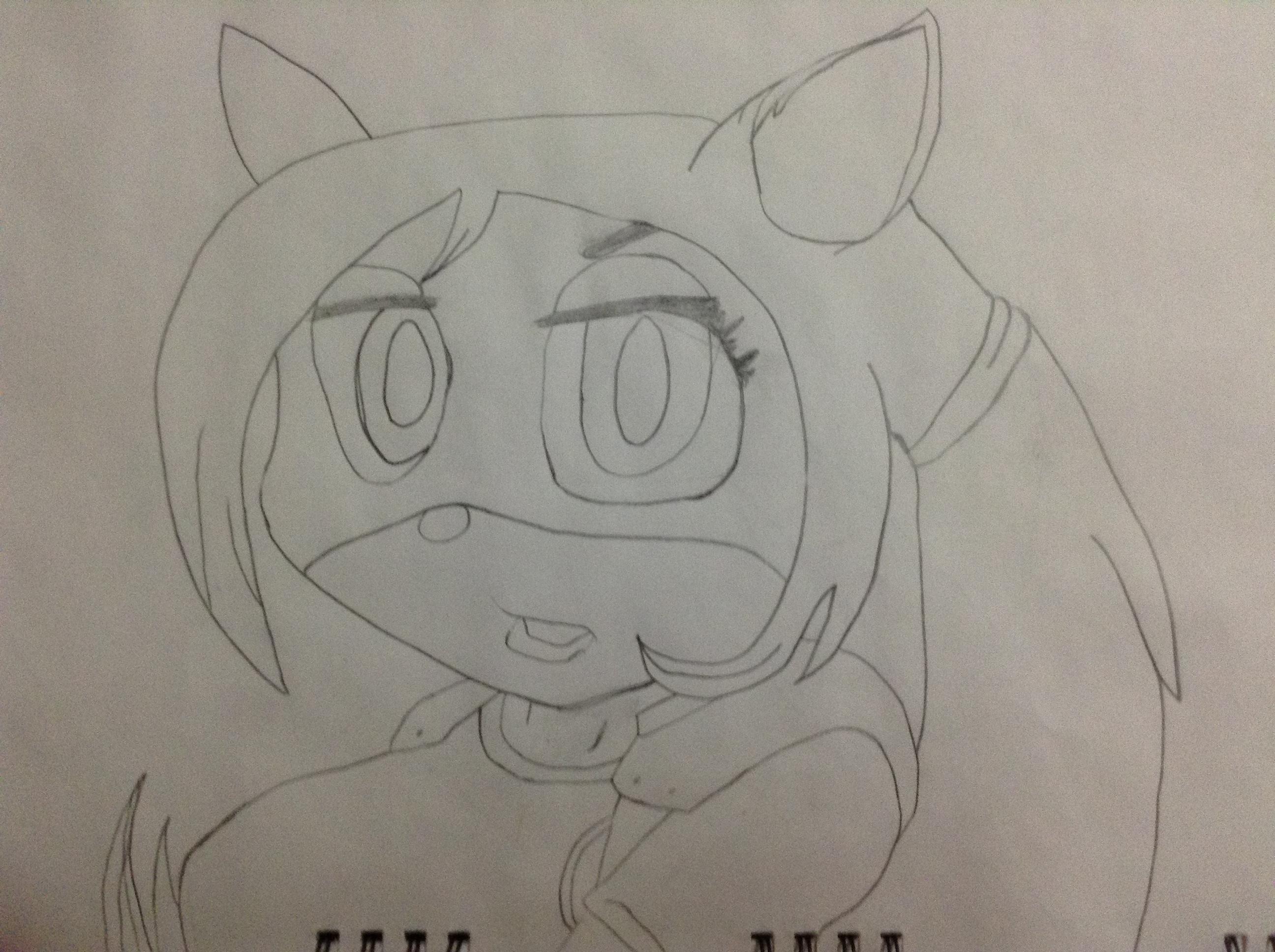 Coco Bandicoot sketch(no colour)