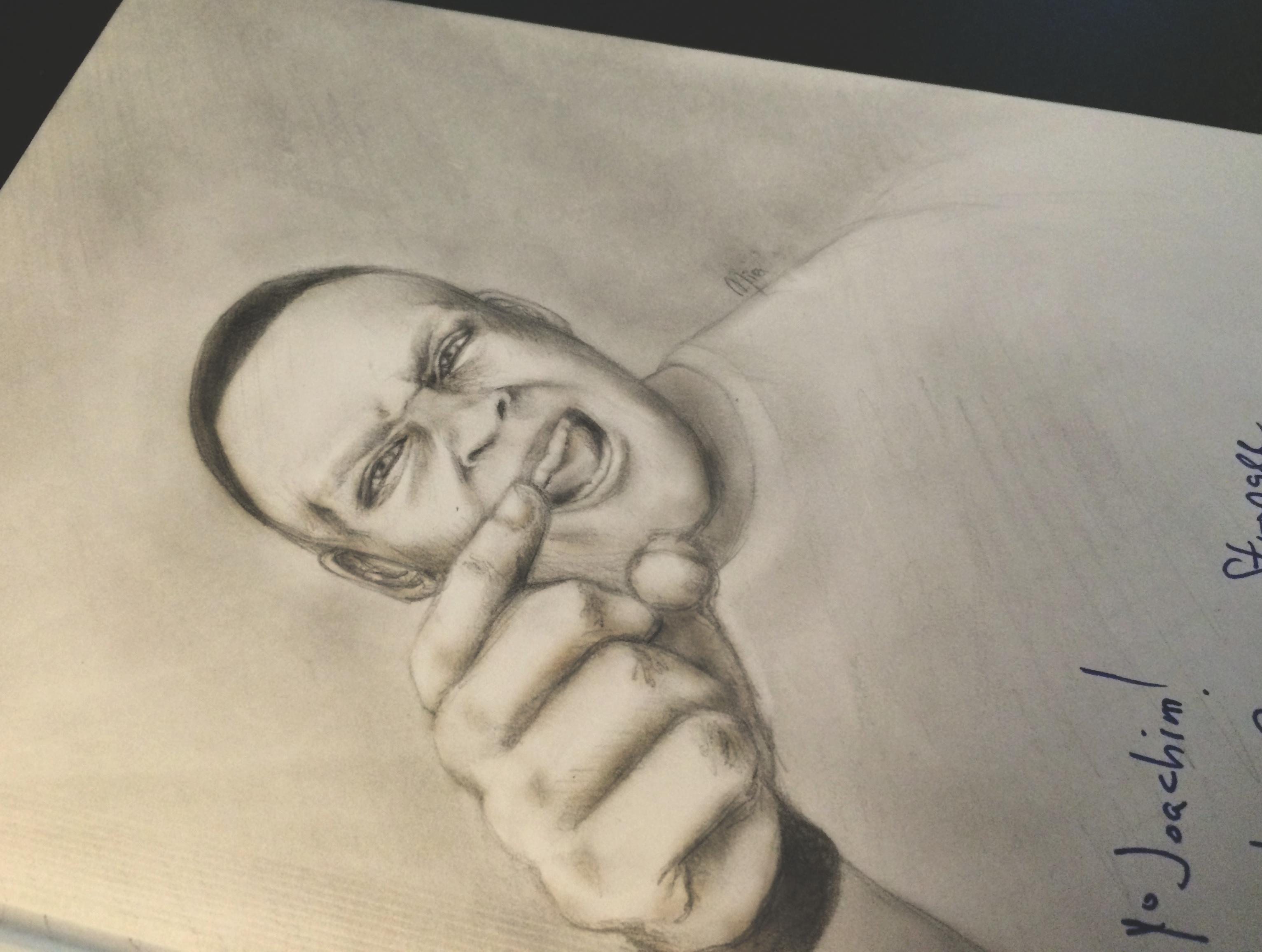 Drawing of Elliott Hulse