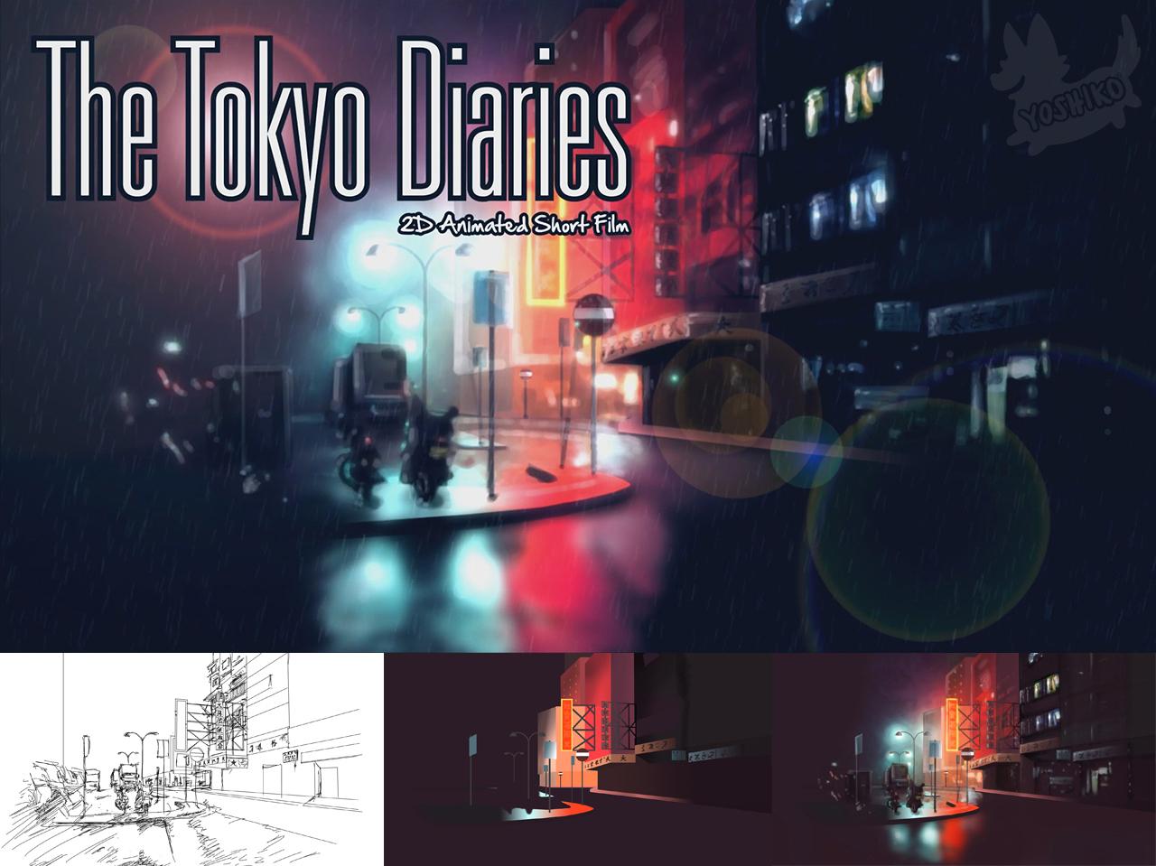 The Tokyo Diaries (Movie Wallpaper) sketchdrawing