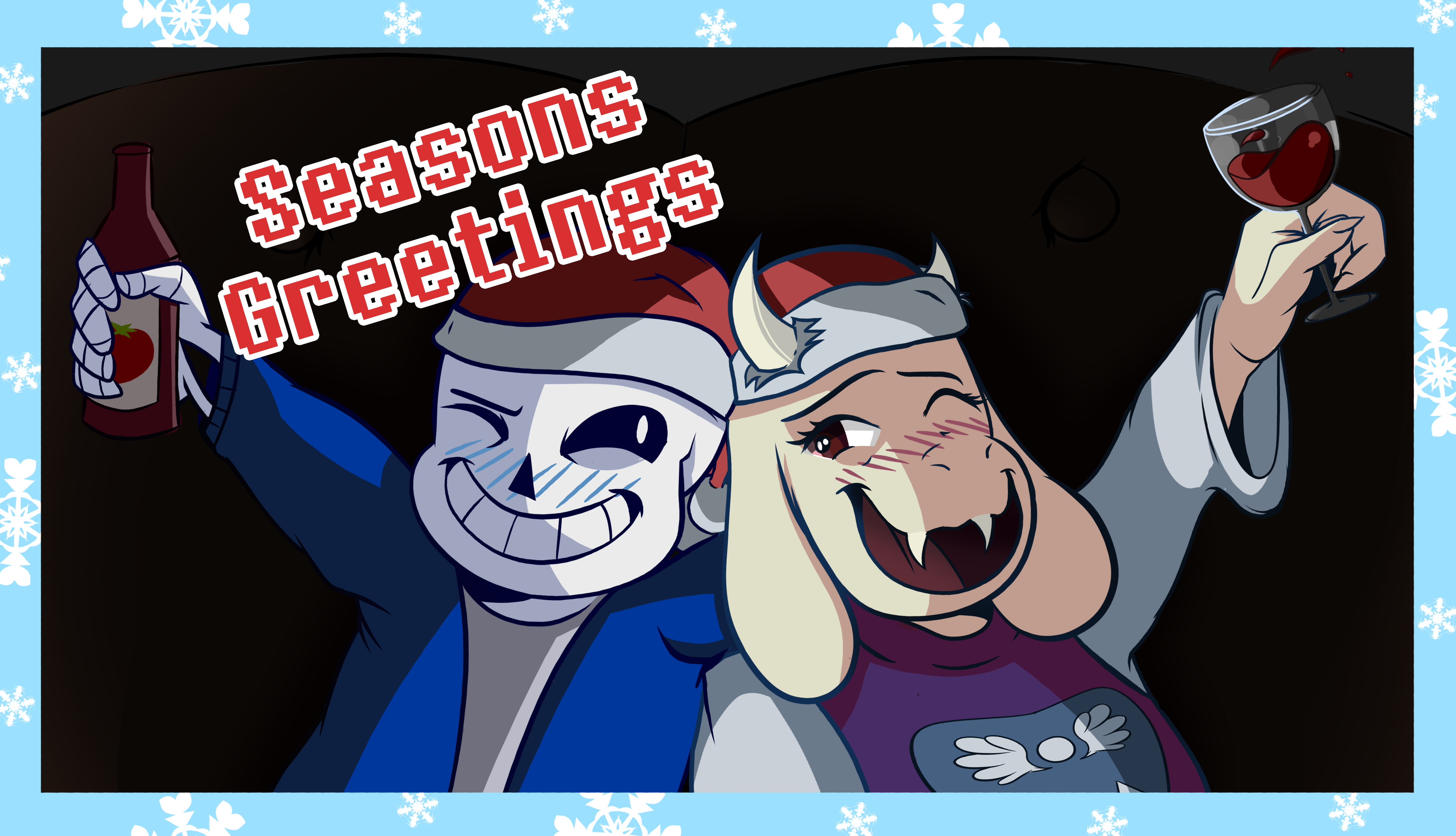 Sans and Toriel Christmas Card