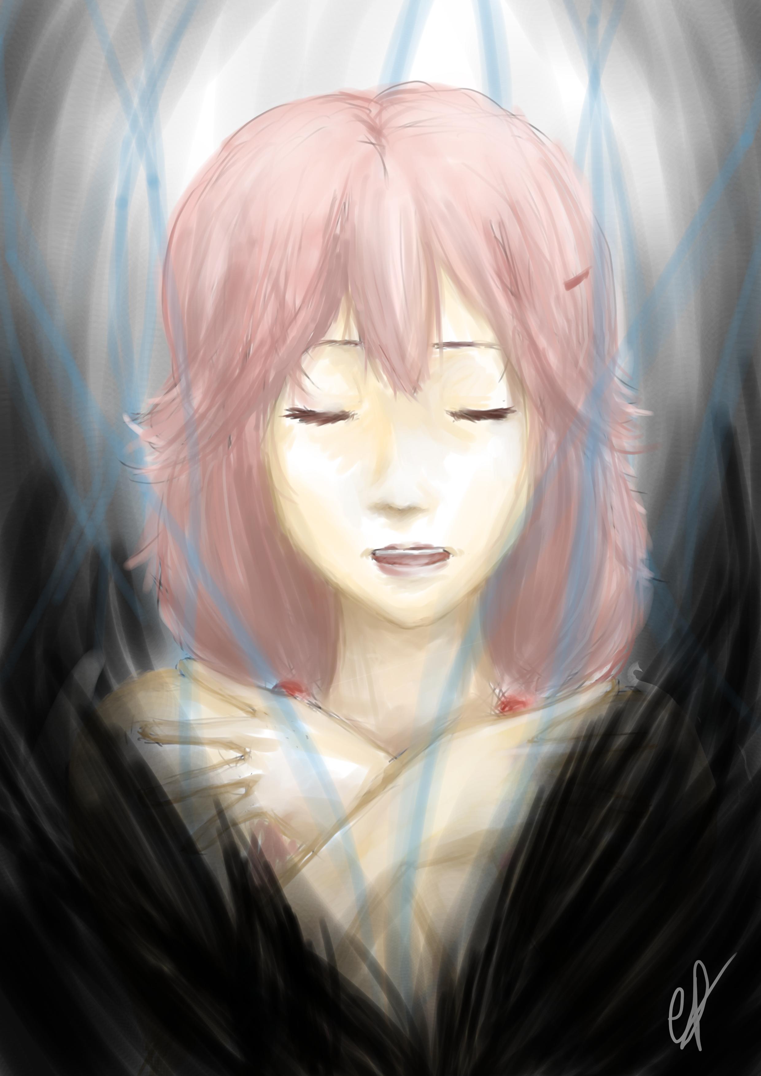 Void - Inori Yuzuriha fan art