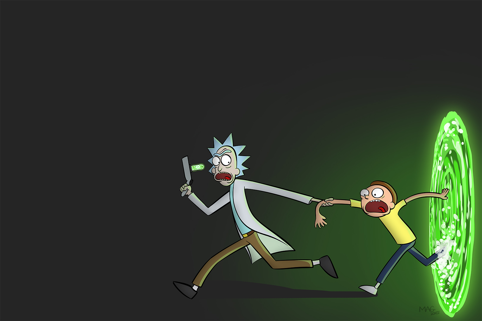 Rick and Morty_01 (Duel Monitor Wallpaper)
