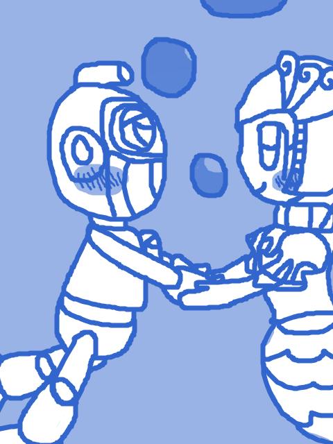 Bubble Man and Splash Woman