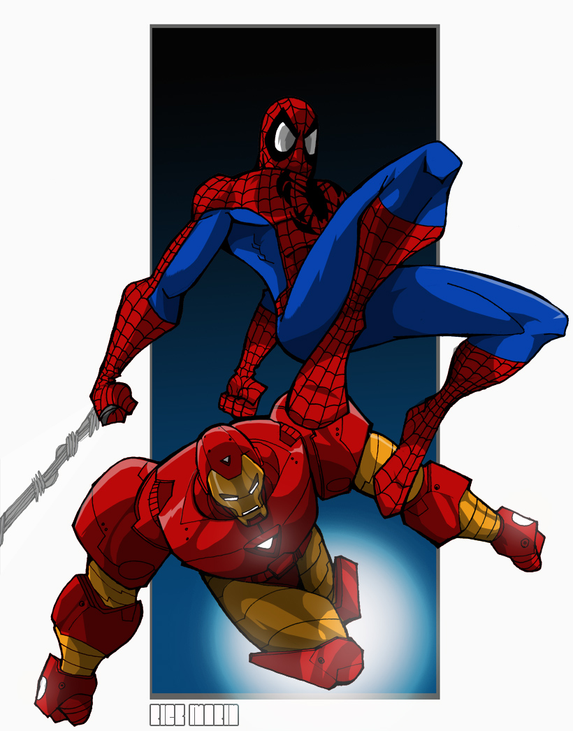 Spiderman and Iron Man