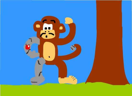 Robo Monkey with a Sweet Stash