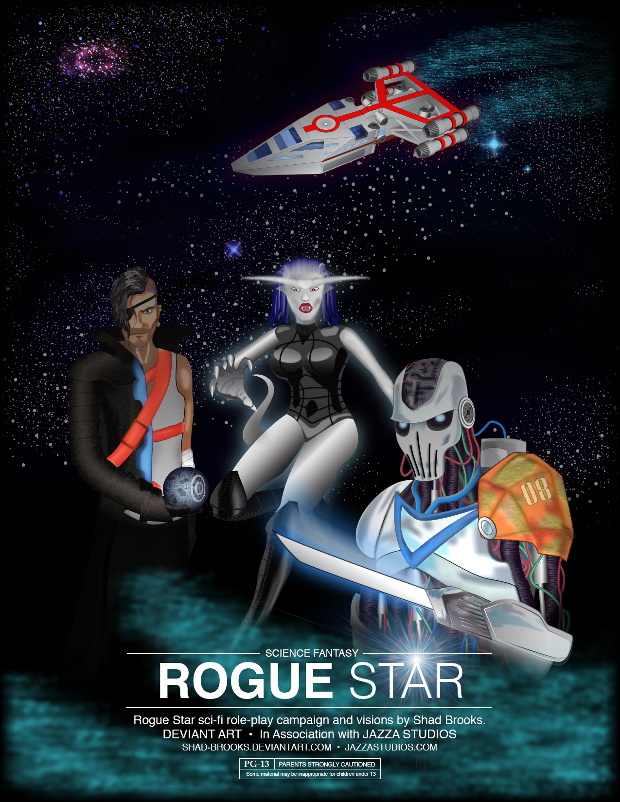 Rogue Star Poster for Jazza Competition
