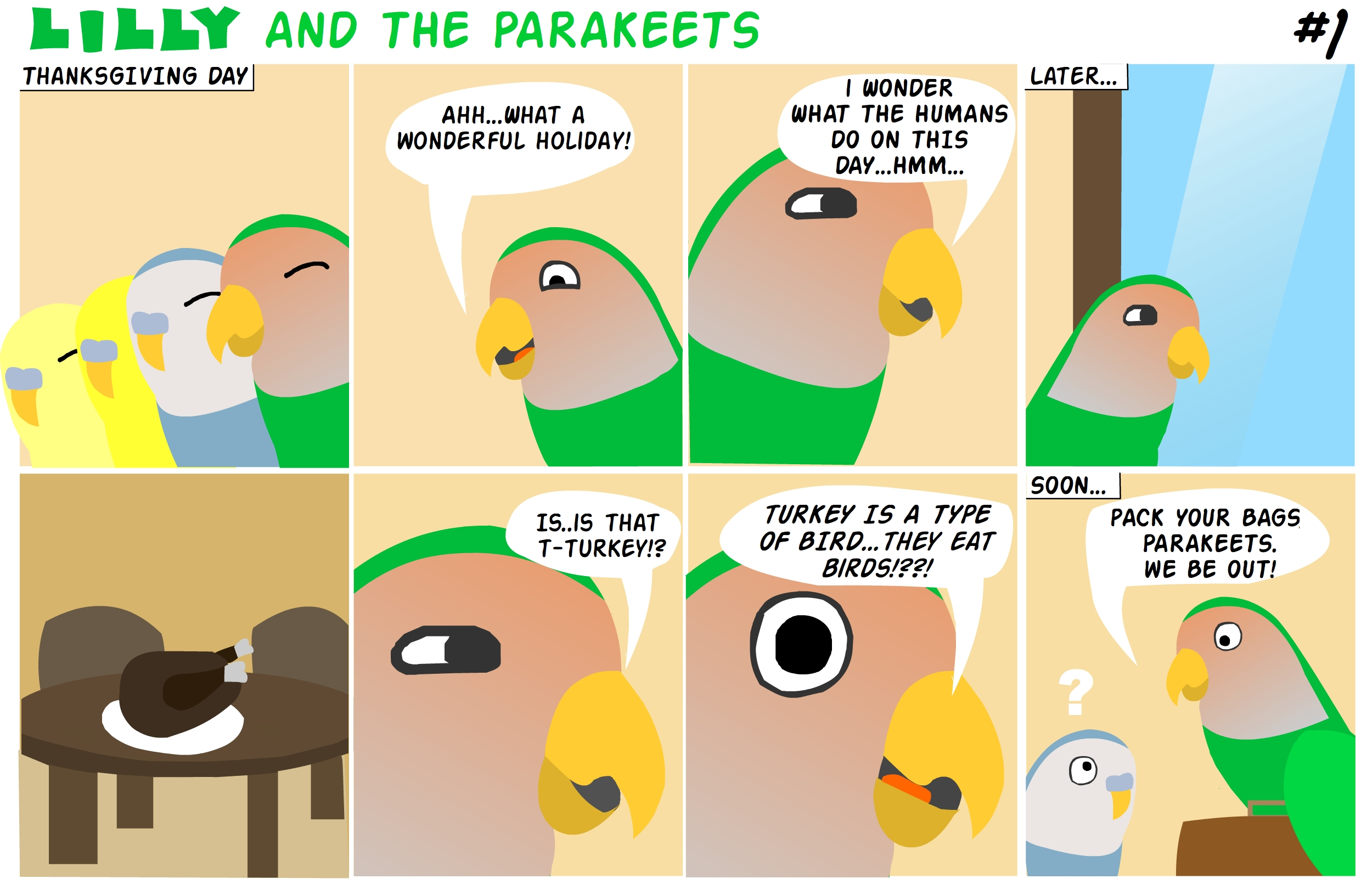 """""""Thanksgiving"""" Lilly & The Parakeets #1"""