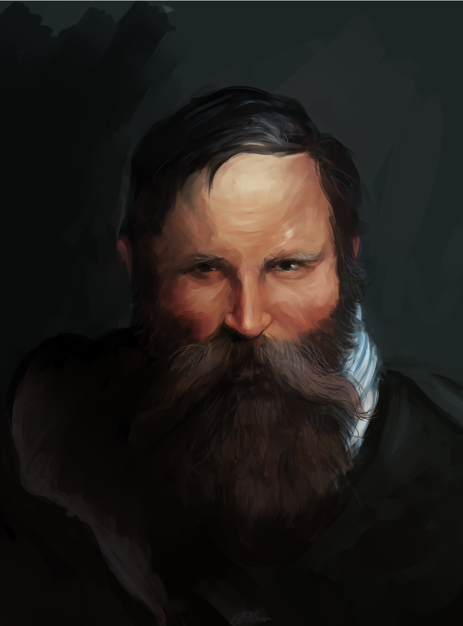 Beared Man - Study