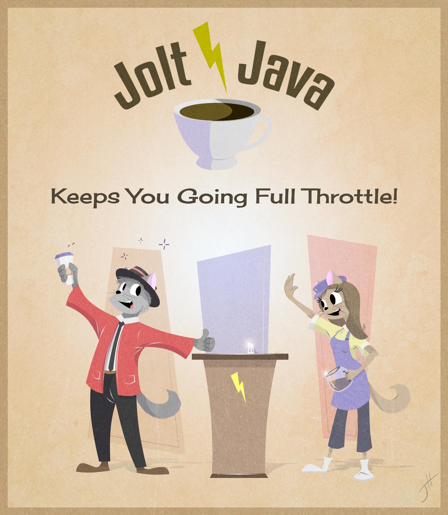 Jolt Java Poster Ad