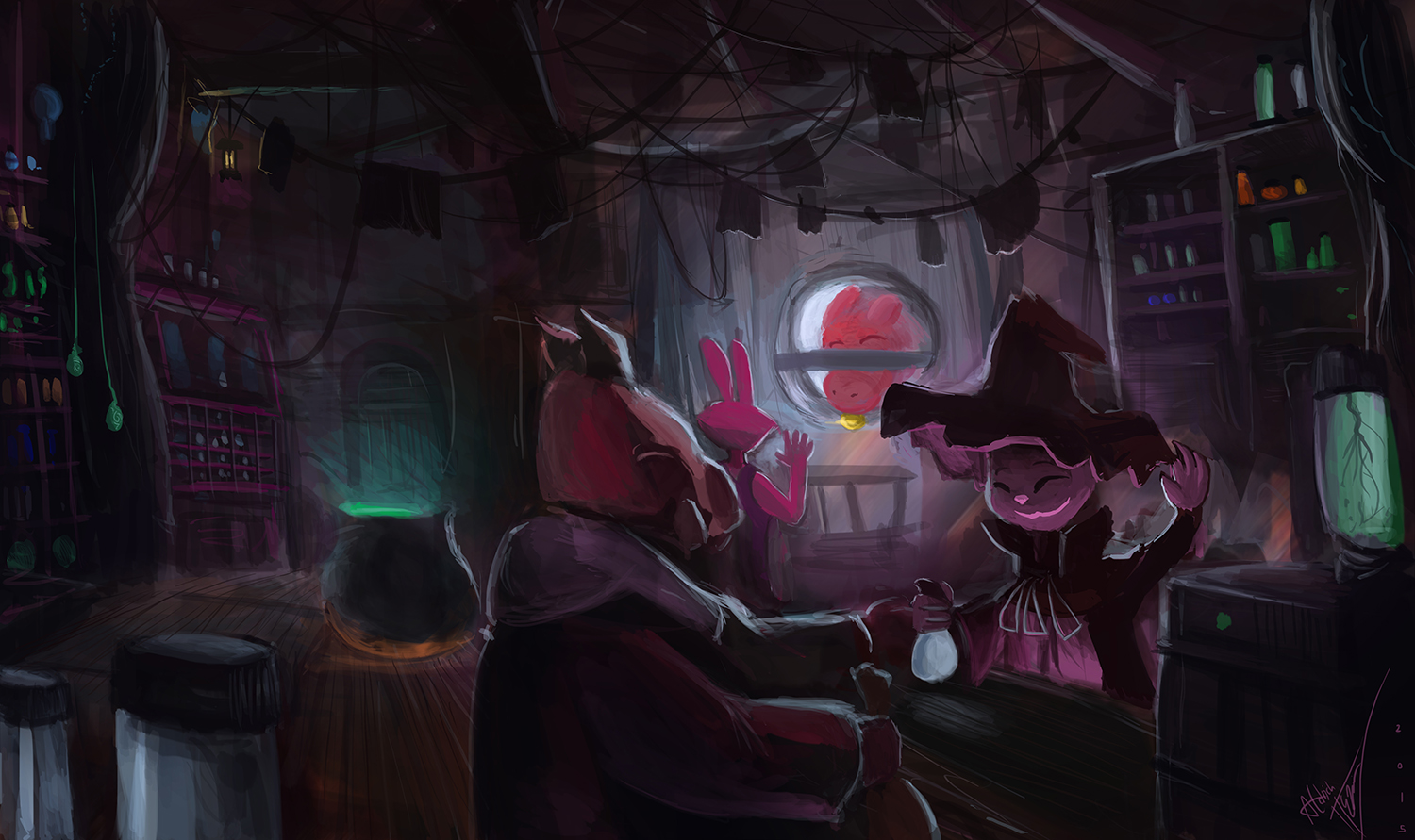 Potion shop (animation by Temmie Chang)