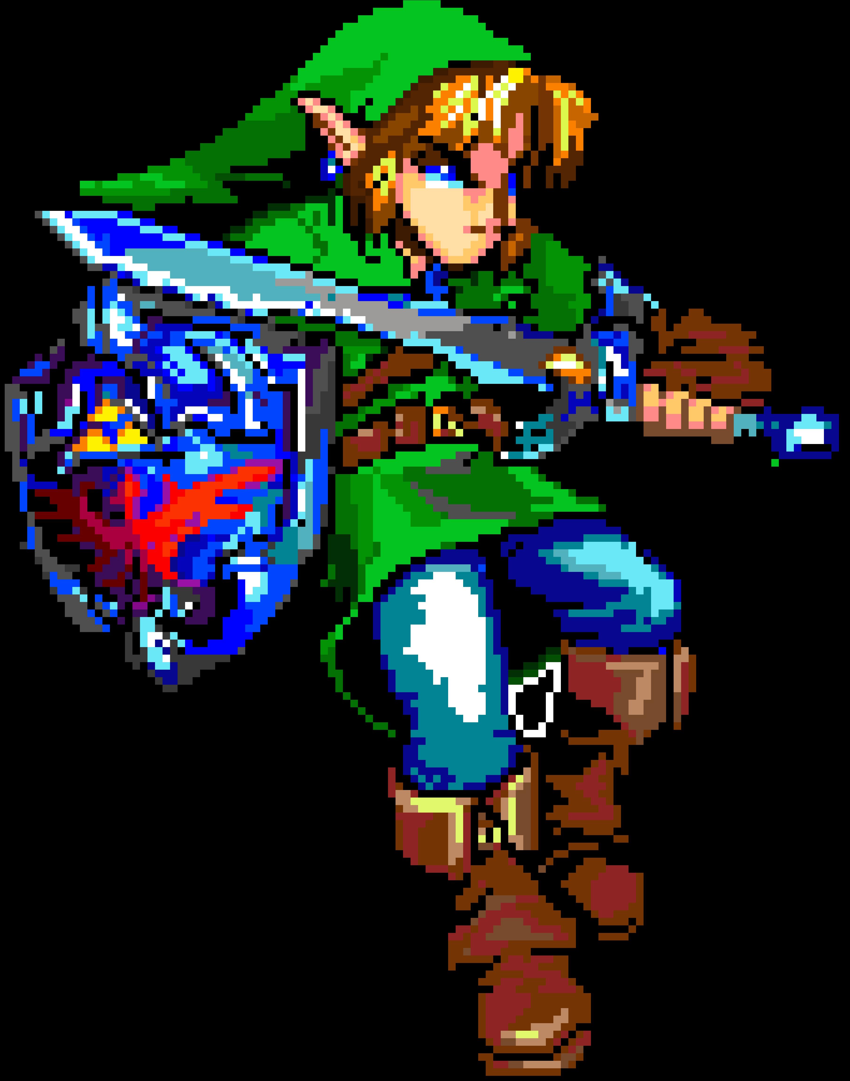Link (Pixel Art) by HalfMilk on Newgrounds