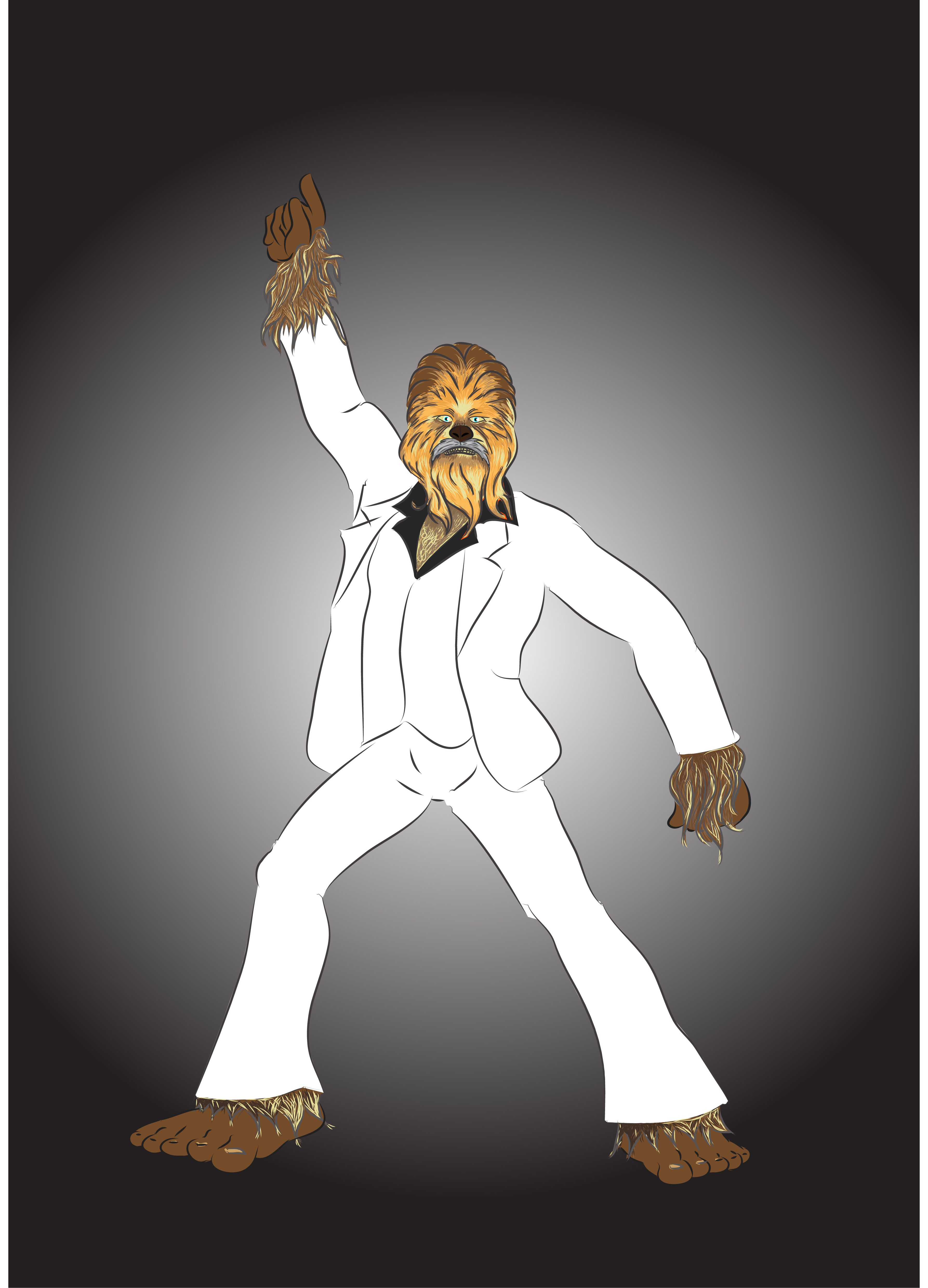 sat night fever chewbacca or Bigfoot