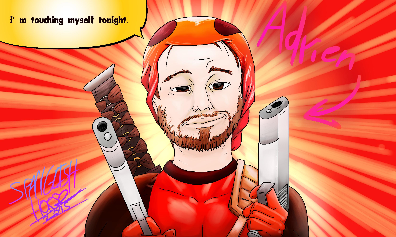 Adrien Deadpool Cosplay art.
