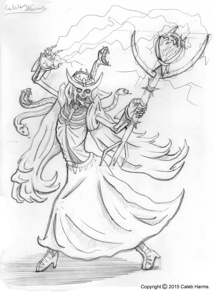 Skeleton Queen. Pencils
