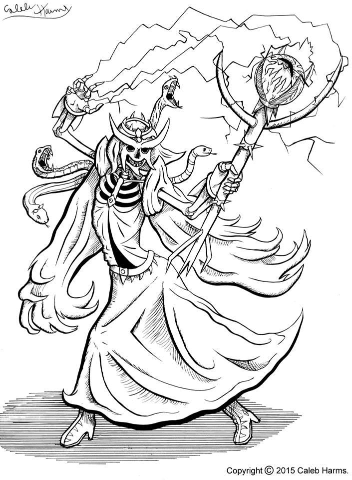 Skeleton Queen. Inks