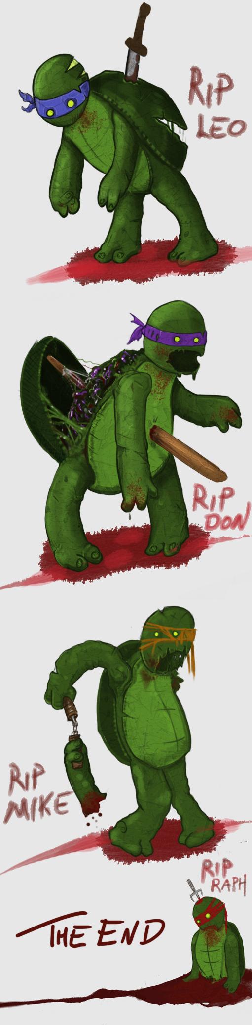Rotten Mutant Zombie Turtles