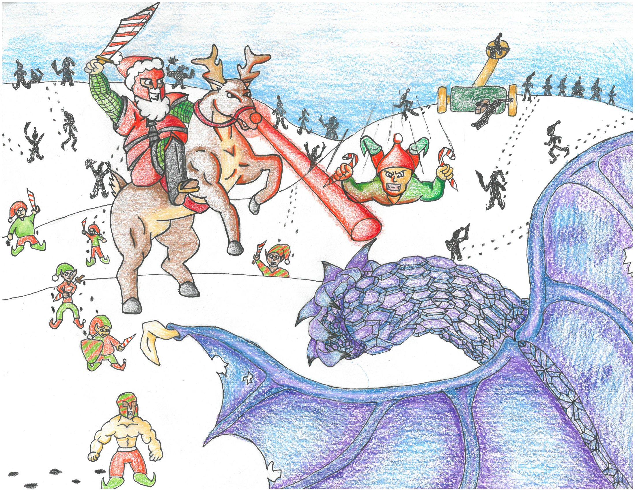 Santa Dragon slayer