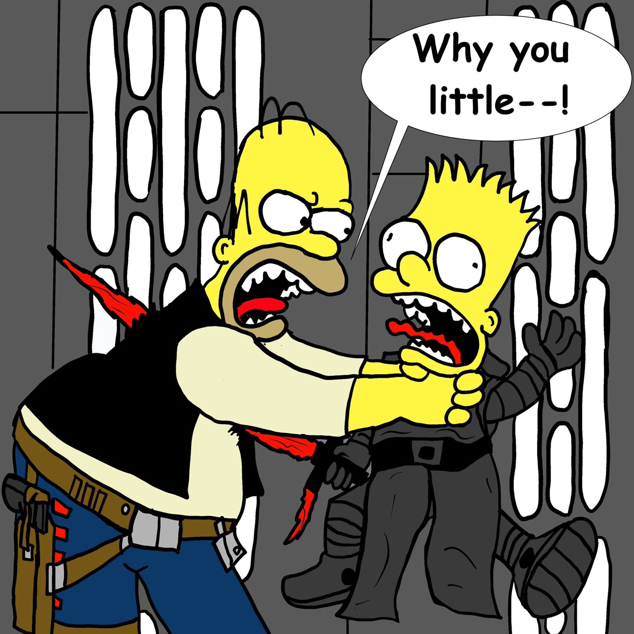 Why you LITTLE!.. Star Wars/Simpsons