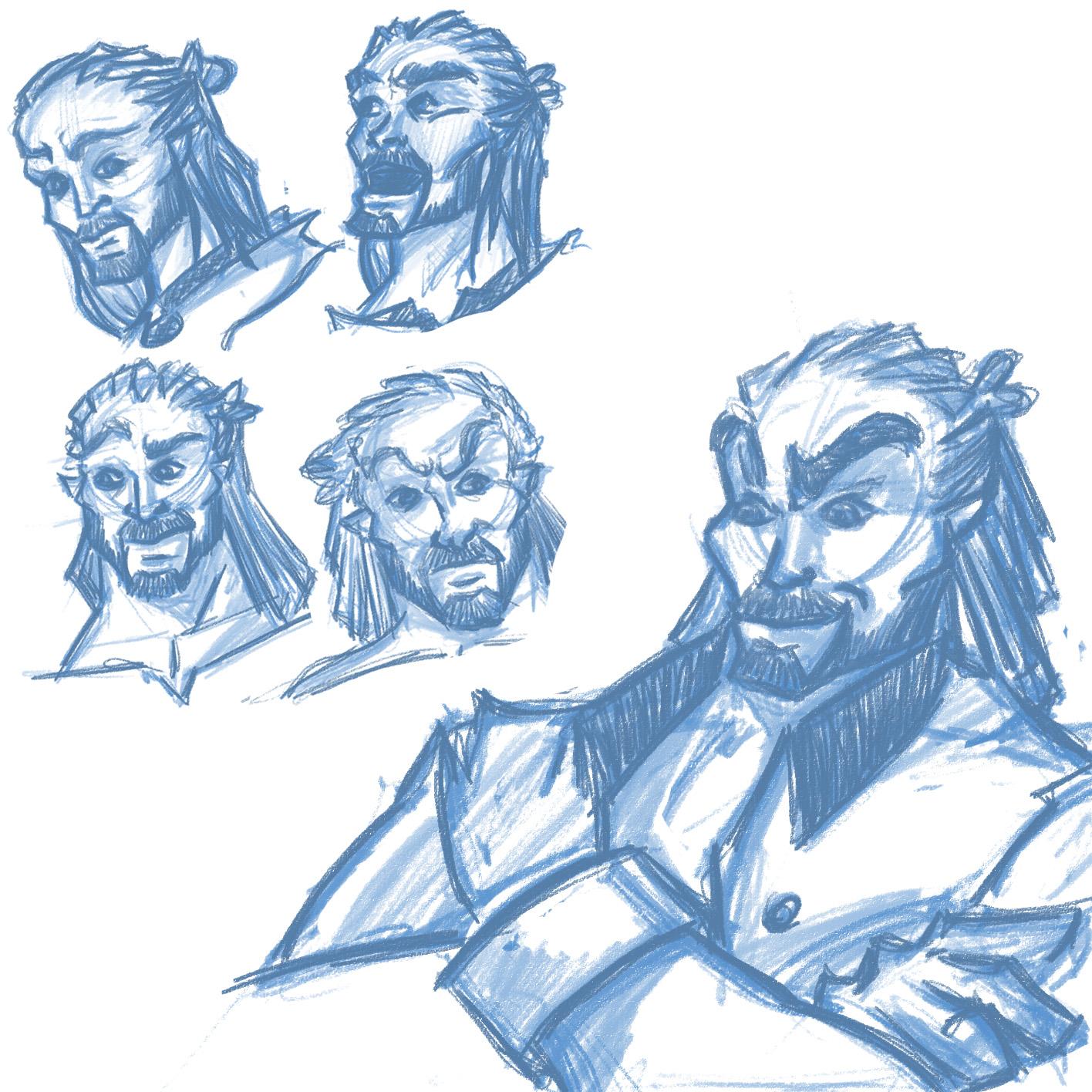 Male II character concept
