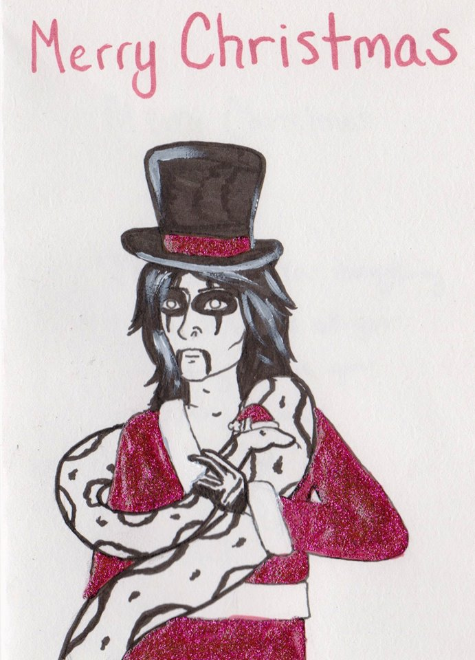 Alice Cooper Christmas Card