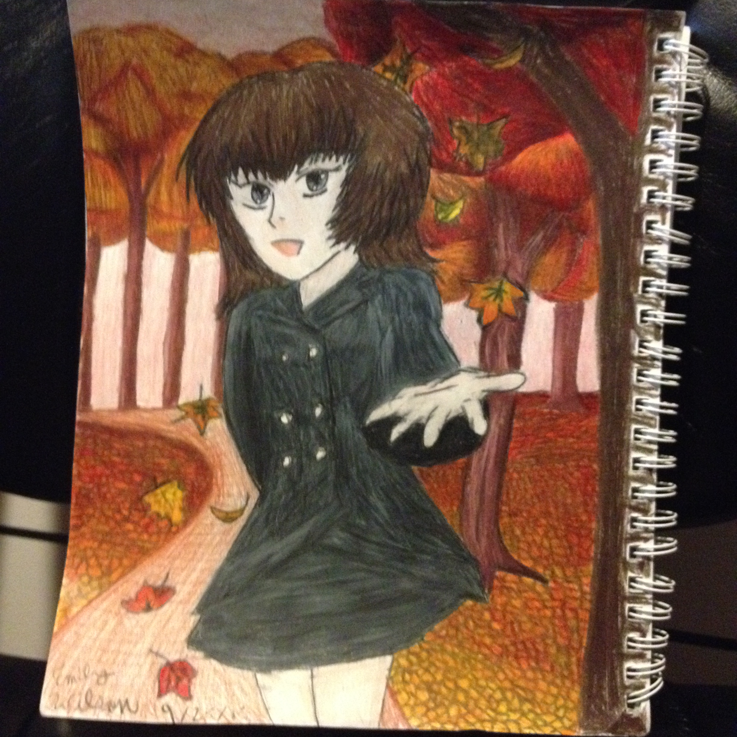 Sketchbook Drawing 15 - FIrst Day of Fall!