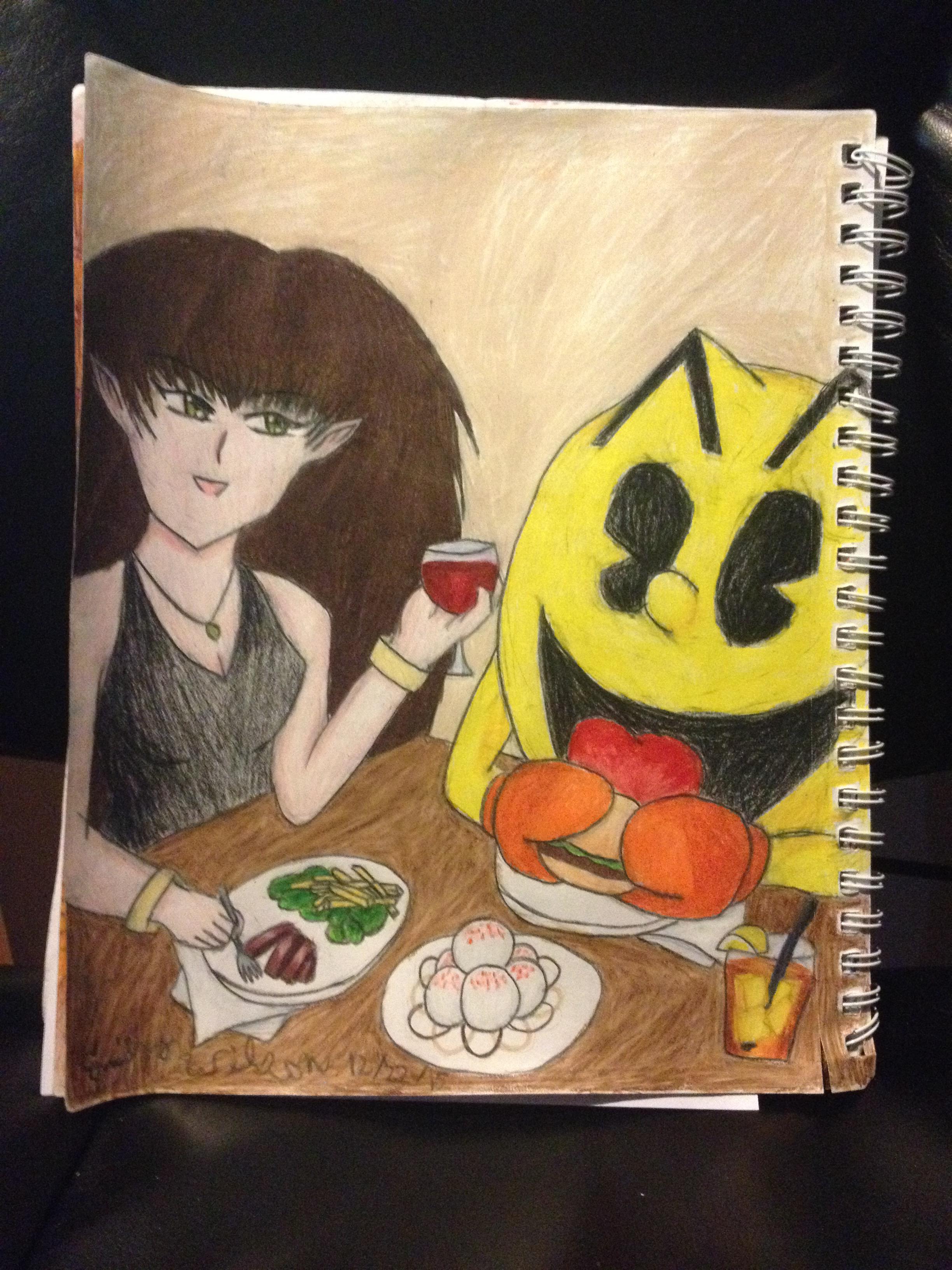 Sketchbook Drawing 17 - Dinner At Level 257