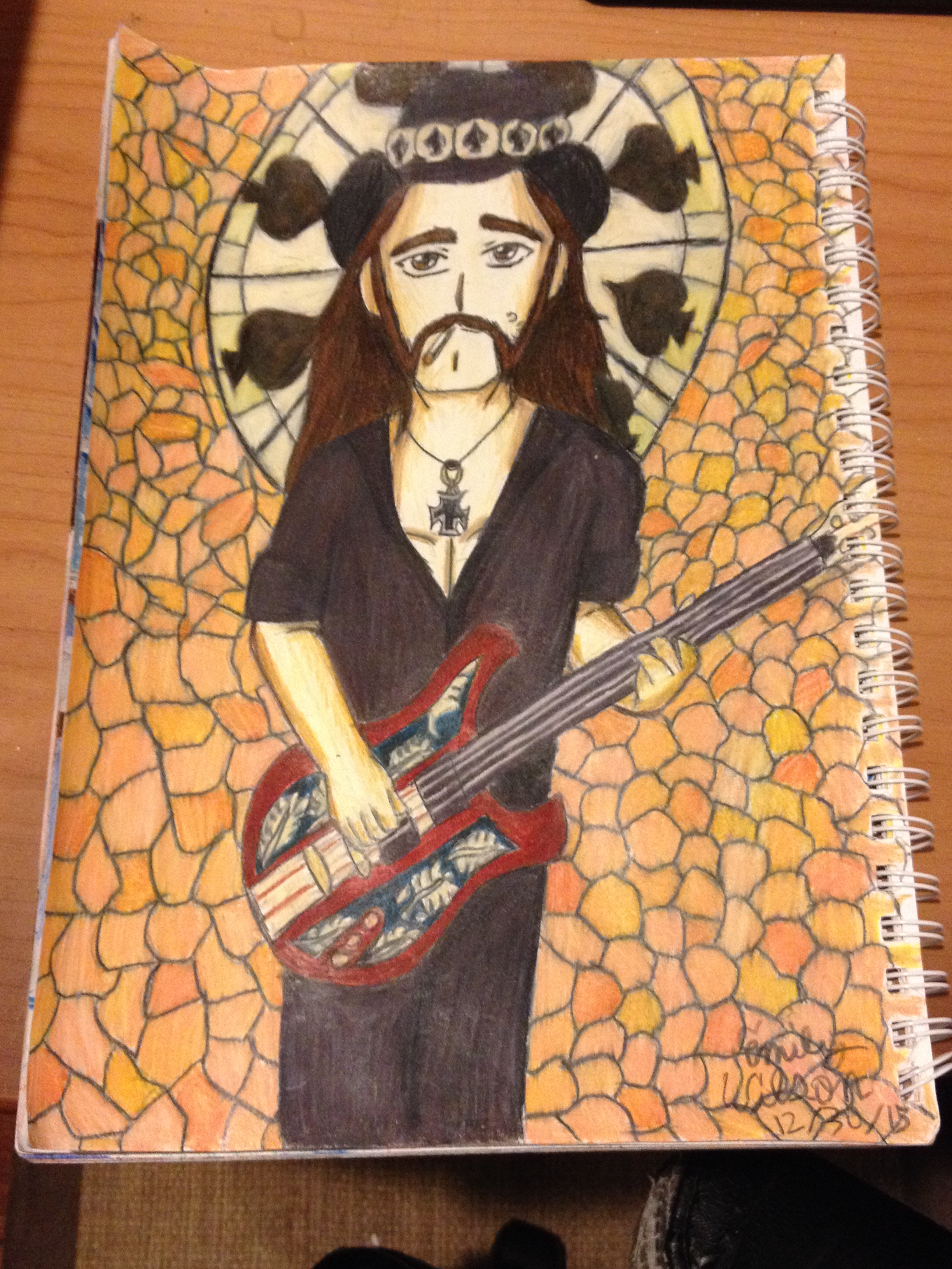 Sketchbook Drawing 21 - Lemmy Kilmister (RIP)