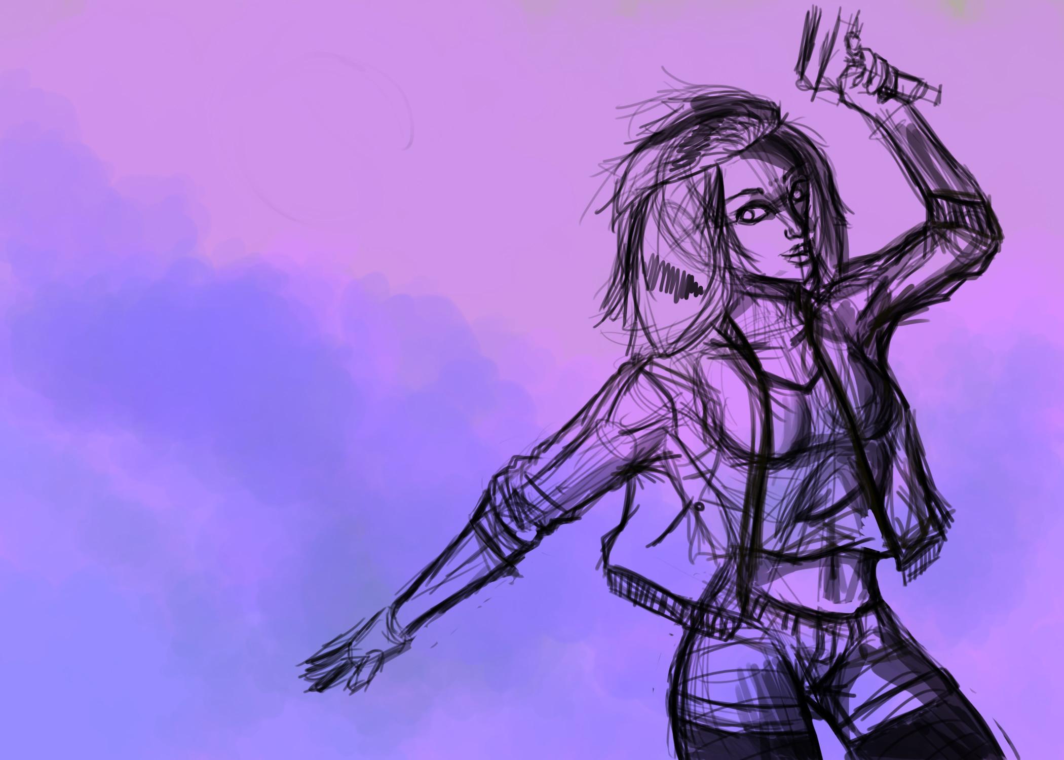 Girl Sketch WIP